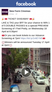 New Farm Cinemas – Win 1 of 5 Double Passes to a Special Preview Screening of I Feel Pretty