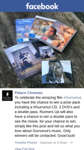 Palace cinemas – Win a Prize Pack Including a #gurrumul Cd