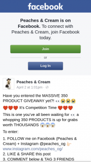 Peaches & Cream – Win a 350 Product Makeup Giveaway
