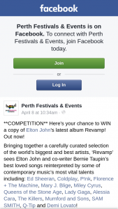 Perth Festivals & Events – Win a Copy of Elton John's Latest Album Revamp