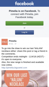 Pimelia – Win Our Last 'nalani' Necklace Either