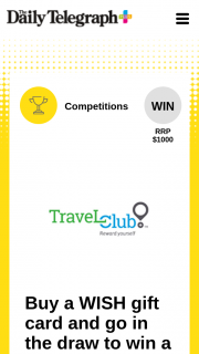 Plusrewards – Win a $1000 Travel Club Voucher (prize valued at $1,000)