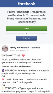 Pretty Handmade Treasures – Win a Set of Natural Gemstone and Czech Crystal Bracelets