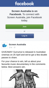 Screen Australia – Gurrumul Is Released In Australian Cinemas on 25 April and We've Got a Few Double Passes to Share
