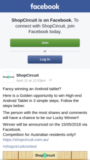 ShopCircuit – Win High-End Android Tablet In 3 Simple Steps