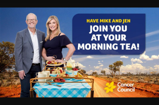 Smooth FM – Win Mike and Jen at Your Biggest Morning Tea Event (prize valued at $500)