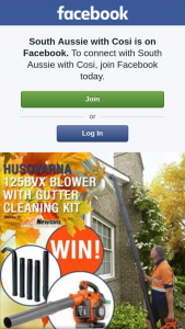South Aussie with Cosi – Win a Husqvarna Blower With Gutter Cleaning Kit Valued at $320??? (prize valued at $320)