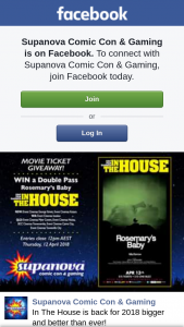 Supanova – Win a Double Pass to Rosemary's Baby on The Big Screen this Friday Night