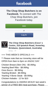 The Chop Shop – Win a Free $50 Meat Purchase