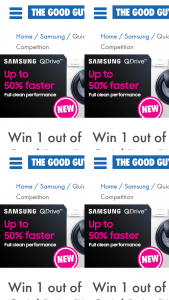 The Good Guys – Win a New Samsung Quickdrive™ Washing Machine From The Good Guys (prize valued at $1,499)