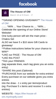 The House of OM – Win The Main Prize