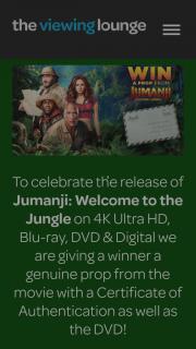 The Viewing Lounge – Win Jumanji