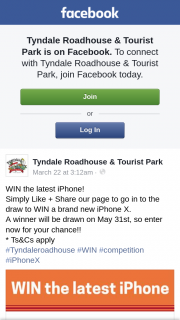 Tynmaydale Roadhouse & Tourist Park – Win The Latest Iphone