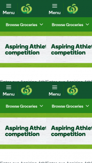 Woolworths Aspiring Athletes – Win $2000 Towards Your Child's Sporting Dream Plus a Year's Supply of Kid Size Fruit (prize valued at $18,080)