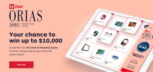 Australia Post – ORIAS People's Choice Consumer – Win up to $10,000