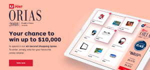 Australia Post – ORIAS People's Choice Consumer – Win up to $10,000