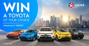 Caltex Australia – Win a brand new 2018 Toyota of the winner's choice valued at up to $44,000 AUD OR 1 of 100 StarCash gift cards