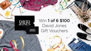 Cashrewards – Win 1 of 6 David Jones gift vouchers valued at $100 each