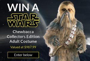 Costume Box – Win a Star Wars Chewbacca Collectors Edition Adult Costume valued at $987.99