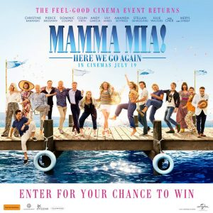 Greenwood Plaza North Sydney – Mumma Mia – Win 1 of 10 double passes PLUS a DVD of the first Mamma Mia movie