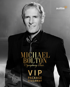 Michael Bolton – Australian Tour – Win 1 of 5 exclusive VIP prize packs of 2 premium tickets plus merchandise