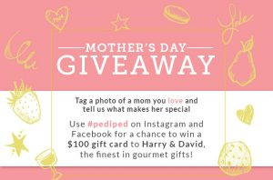 Pediped Footwear – Mother's Day – Win 1 of 2 $100 gift cards to Harry & David gourmet gifts