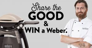 Peppercorn Food Comany – Win 1 of 2 Weber Family Qs valued at $739 each