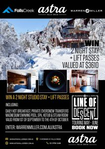 Warren Miller Snow Film Tour – Win 2 night-stay at Astra Falls Creek plus lift passes courtesy of Falls Creek valued at $3,610