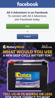 All 4 Adventure Battery World – Win a New Century Deep Cycle Battery
