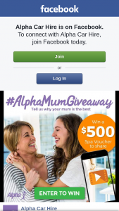 Alpha Car Hire – Win The $500 Voucher (prize valued at $500)