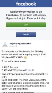 Aspley Hypermarket – a $100 Woolies Gift Card