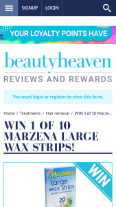 Beauty Heaven – Will Score a Large Wax Strips (20 Pack).