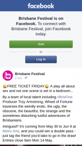 Brisbane Festival – Win a Double Pass