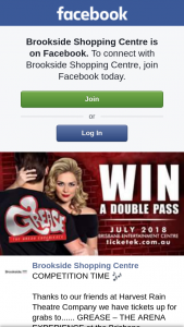 Brookside Shopping Centre – Win Four Tickets to See Grease Arena Experience (prize valued at $107)