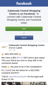 Calamvale Central Shopping Centre – Win a $50 @bigwaustralia