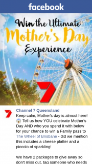 Channel 7 Qld – Win a Family Pass to The Wheel of Brisbane