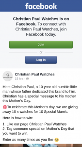 Christian Paul – 10 X Watches for 10 Special Mum's