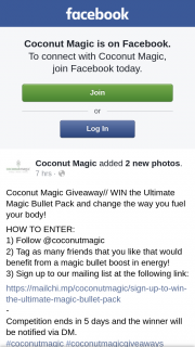 Coconut Magic – Win The Ultimate Magic Bullet Pack and Change The Way You Fuel Your Body