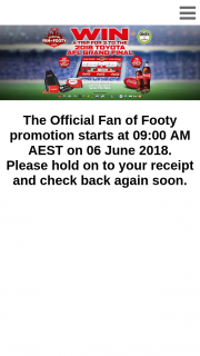Coles-CocaCola – Win Prize Entry (excluding AFL Ticket Instant Win Prize Entry) Ends at 11.59pm Aest on 04/09/18.
