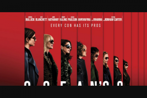Community News – Win 1 of 20 Double In-Season Passes to See Ocean's 8.