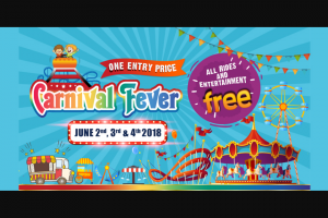 Community News – Win 1 of 15 Family Passes (group of 3) to Carnival Fever on Saturday 2nd June