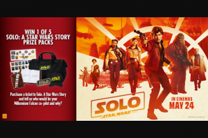 Dendy cinemas – Win 1 of 5 Solo