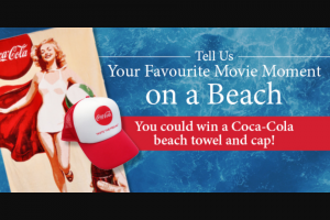 Dendy – Win a Coca-Cola Beach Towel and Cap