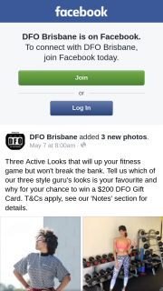 DFO Brisbane – Win a $200 Dfo Gift Card