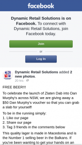 Dynamic Retail Solutions – a $50 Dan Murphy's Voucher So That You Can Grab a Slab for Yourself