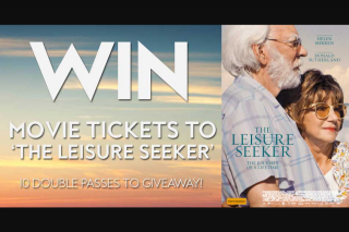 Fashion Weekly – Win a Double Pass to The New Film 'the Leisure Seeker'.