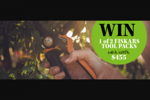 Gardening Australia – Win a Fiskars Pruning Tool Pack Worth $455 (prize valued at $910)