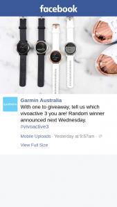 Garmin Australia – Win a Vivoactive3