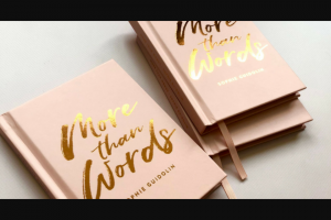 Haven magazine – Win One of Five Signed Copies of More Than Words (prize valued at $29.95)