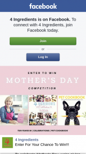 4 Ingredients – Or Nominate Your Mum (prize valued at $105)